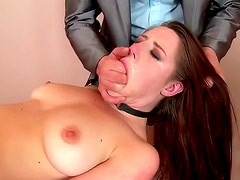 Tied and lovely maid Samantha Bentley wants her bastard to cum all over her face