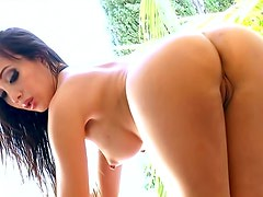Cute gal Katsuni shows off her booty