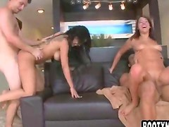 Two big ass girls get nailed
