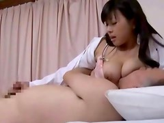 Hot asian nurses hairy pussy gets slammed