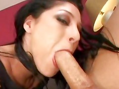 Britney Stevens gets her mouth filled with hard cock