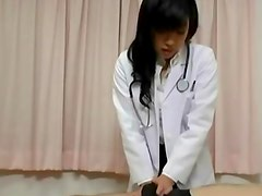 Busty japanese nurse gets hot