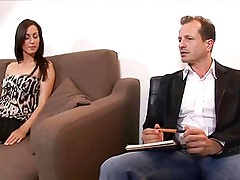 Tetas - Brunette housewife sucks, rides and bends over to get fucked by her hunky guest