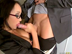Gorgeous Office Slut Katsuni Gets Fucked In Stocking and High Heels
