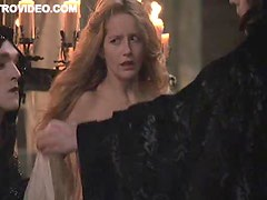 Blonde Laure Marsac Topless In Public and Surrounded By Vampires