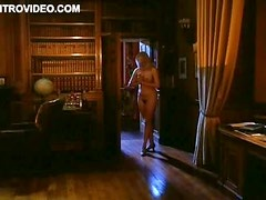 Naked and Masked Joely Richardson Scares The Shit Out Of This Guy