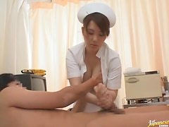 Sexy Asian Schoolgirl and a Busty Japanese Nurse Sharing a Guy