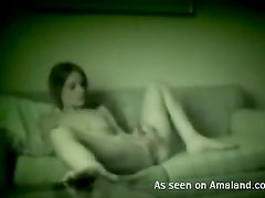 Living Room Masturbation With A Horny Teen