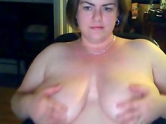 fat BBW wife big tits on webcam