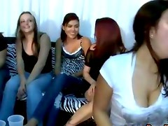 Amateur cfnm hotties suck on cock