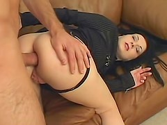 Young lady is a big time anal whore
