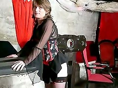 Submissive brunette whore slave sandy fuck and get caned