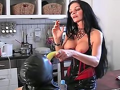 Kinky mistress worshiped by her slave