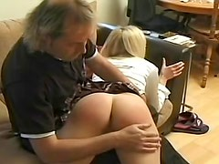 Schoolgirl spanked on her sexy ass