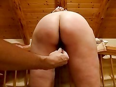 Wife's perfect ass receives some punishment
