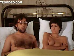Sensual Short-Haired Brunette Carole Laure Shows Her Tasty Knockers