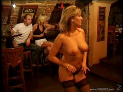 Horny Voyeur Sluts Dance In Sexy Lingerie and Give Blowjobs