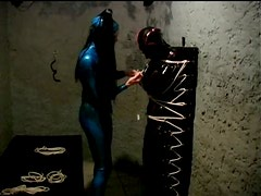 Bound Lesbian Sex Slaves In Tight Latex Suits Compilation Video