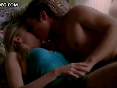 Cute Blonde Andrea Bowen Shy In Bed