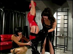 Inmobilized Girl Abused By Dominatrices