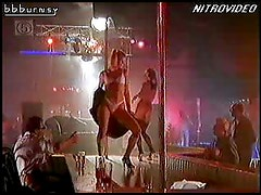 Sexy Blonde Actress Amy Lindsay Performs a Hot Striptease