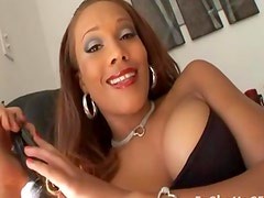 Big breasted ebony slut fucked hard