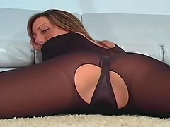 Nylon ladies give you jerk off instructions