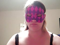 Milf in mask gets facial