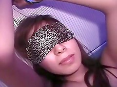 Cute Asian Babe Blindfolded And...
