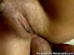 Salvaje - Hairy pussy chick enjoying some wild anal sex