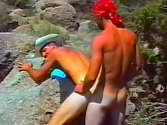 Gay cowboy ass fucked outdoors