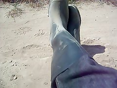 Cumming on my rubber boots