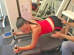 Pure looking sporty girl in hardcore porn