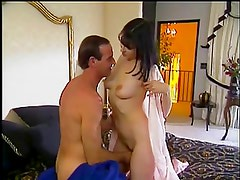 Sexy babe loves it as her tight pink pussy gets licked and fucked