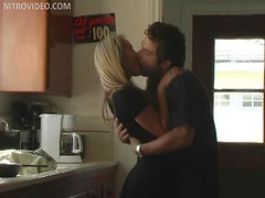 Hot Threesome in the Kitchen with Ander Page and Monique Alexander