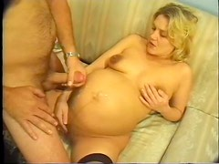 Huge Belly Pregnant Babe Paid For Sex