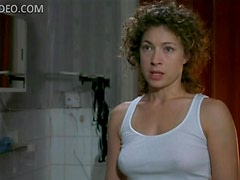 Alex Kingston with a Sexy White Top