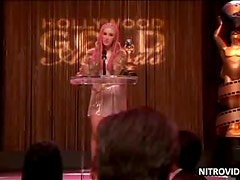 Ashley Johnson & Rosanna Arquette Kissing in Award Ceremony