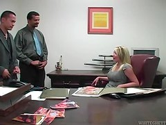 She wants them to jerk off on her ass in office