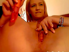 sexy romanian blonde playing with a vibrator(3)
