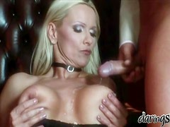 Beautiful blonde MILF getting amazingly double penetrated