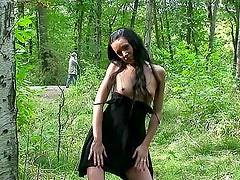 Naked teenager in the woods