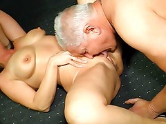 German mom with glasses getting fucked