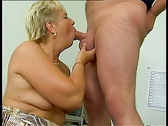 Mature does anal & makes sure his balls are empty