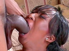 Ebony hardcore sex with monster cock fucking her