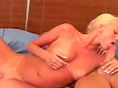 Pretty blonde with tight body fucked hard