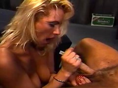 Rocco Siffredi fucks a hot blonde and makes her lick his dick clean