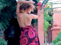 Exotic babysitter stripping and dancing