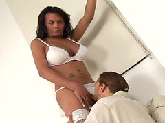 A Hardcore Scene With A Slutty Shemale And Her Monster Cock