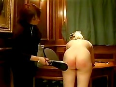 Teenage girls spanked on the ass